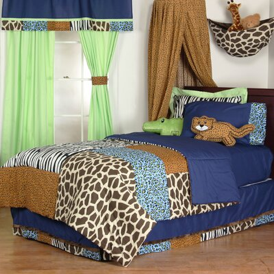 Jazzie Jungle Boy Comforter Size: Twin