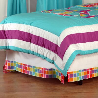 Terrific Tie Dye Bed Skirt Size: Twin