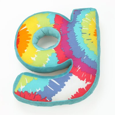 Terrific Tie Dye Letter Throw  Pillow Letter: G
