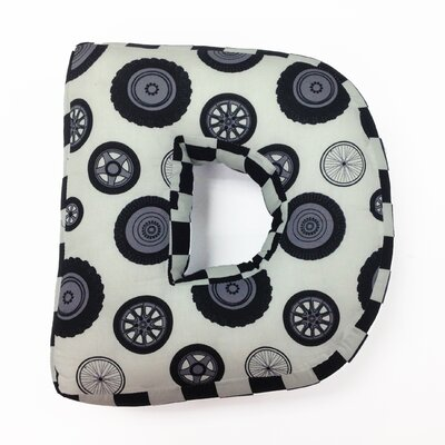 """One Grace Place Teyo's Tires Letter Pillow """"D"""" at Sears.com"""