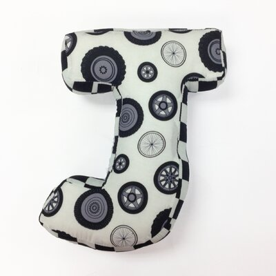 Teyos Tires Letter Pillow J