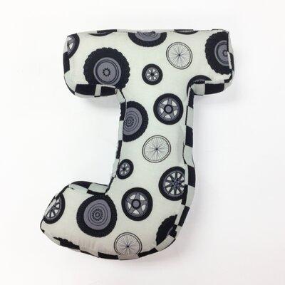 Teyos Tires Letter Pillow J