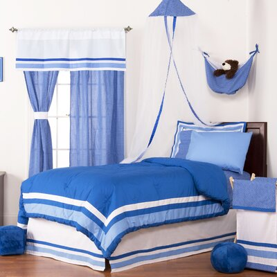 Simplicity Reversible Bed-In-a-Bag Set Size: Full (4 Piece), Color: Blue