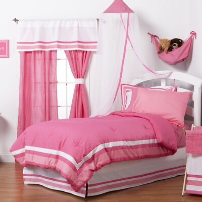 Simplicity Reversible Bed-In-a-Bag Set Size: Full (4 Piece), Color: Hot Pink