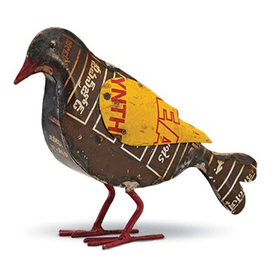 Boho Recycled Bird Figurine