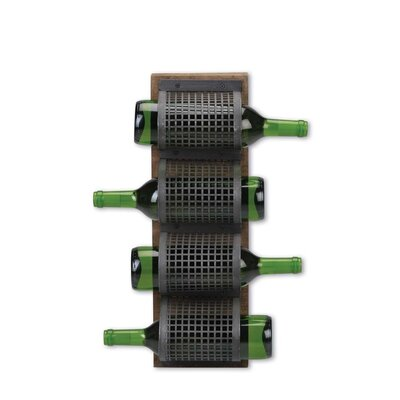 Mountain House 4 Bottle Wall Mounted Wine Rack