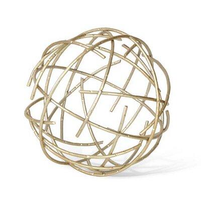 Midtown Brass Stick Sphere Sculpture Size: Medium TOY68-0114