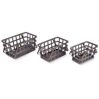 3 Piece Metal Market Baskets Set