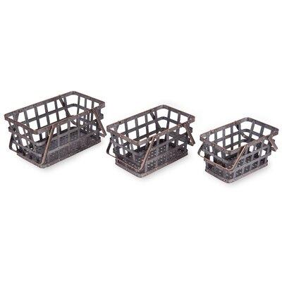 3 Piece Metal Market Baskets Set