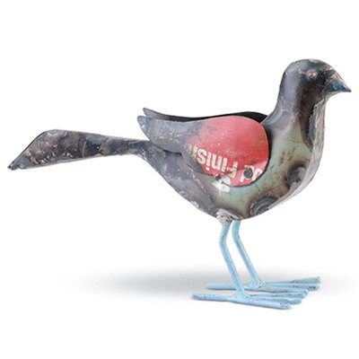 Recycled Metal Bird Figurine