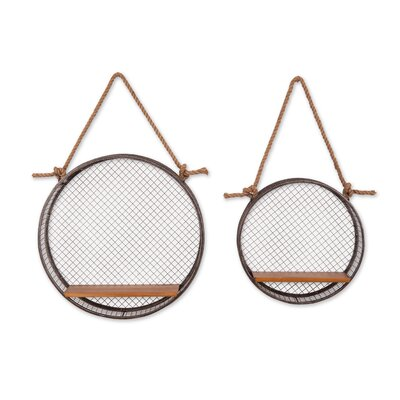 2 Piece Mesh Basket Shelf Set