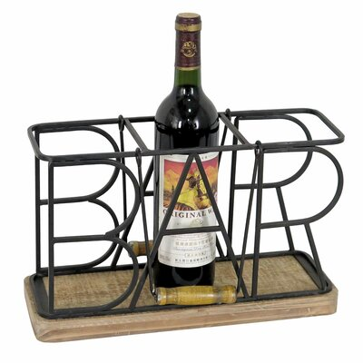 3 Bottle Tabletop Wine Bottle Rack