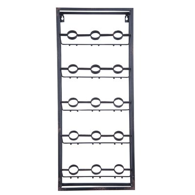 Grid 15 Bottle Floor Wine Bottle Rack