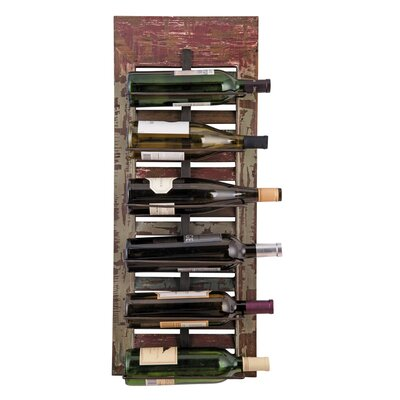 Distressed Shutter 6 Bottle Tabletop Wine Rack