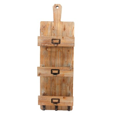3 Bottle Wall Mounted Wine Bottle Rack