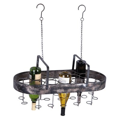 19 Bottle Hanging Wine Bottle Rack