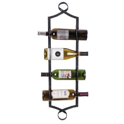 Twisted 4 Bottle Wall Mounted Wine Rack