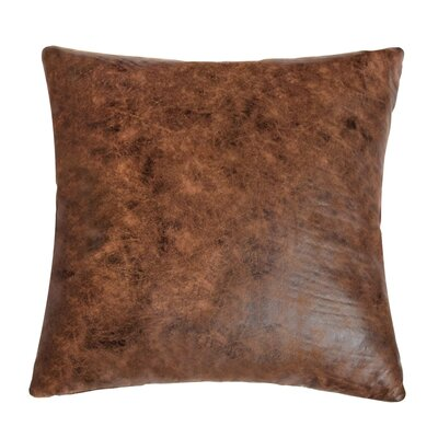 Rustic Faux Leather Throw Pillow
