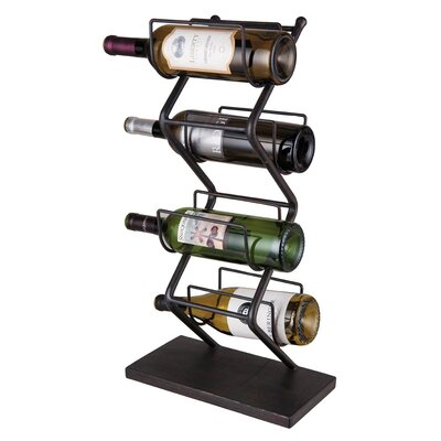 Iron 4 Bottle Tabletop Wine Rack