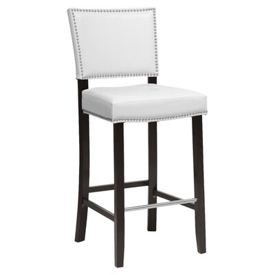 Baxton Studio 30.5 Bar Stool Upholstery: White
