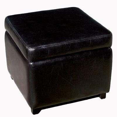Ingalls Cube Storage Ottoman Upholstery: Black