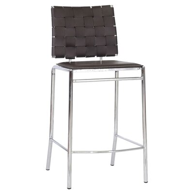 Vittoria 26 Bar Stool Upholstery: Brown
