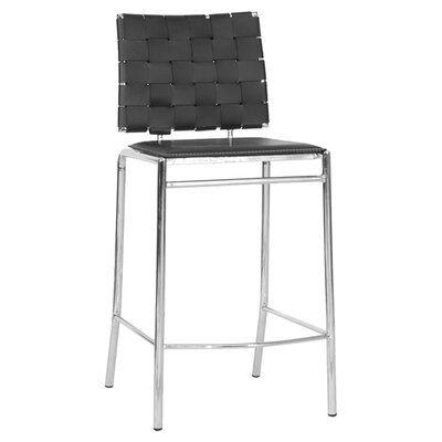 Vittoria 26 Bar Stool Upholstery: Black