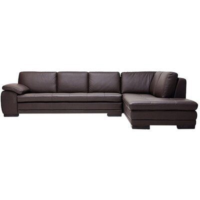 Baxton Studio Sectional Upholstery: Dark Brown