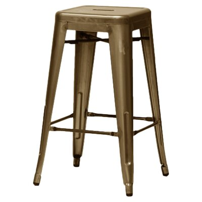 Baxton Studio 30.5 Bar Stool Finish: Bronze