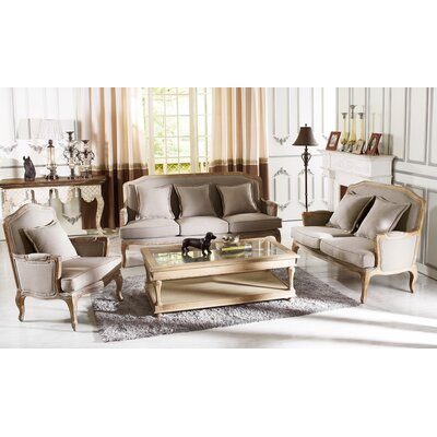 Baxton Studio Constanza Classic French Sofa Set