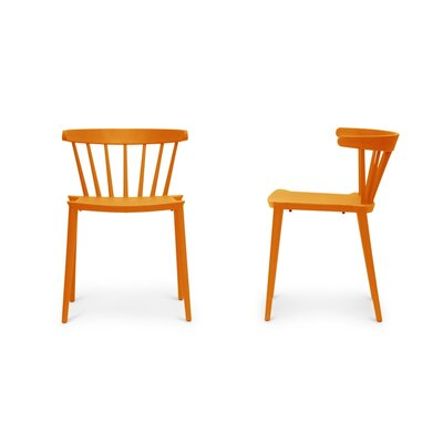 Baxton Studio Finchum Side Chair Upholstery: Orange