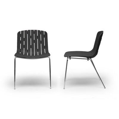 Baxton Studio Florissa Side Chair Finish: Black