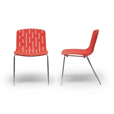 Baxton Studio Florissa Side Chair Finish: Red