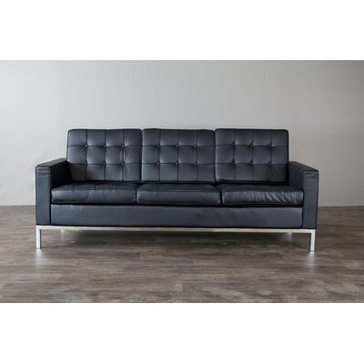 810-Black-SF WHI5507 Wholesale Interiors Baxton Studio Connoisseur Sofa