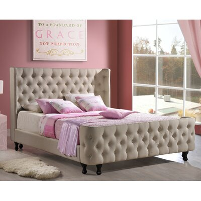Francesca Upholstered Platform Bed Size: King