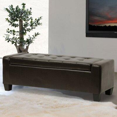 Dascomb Storage Ottoman Upholstery: Dark Brown
