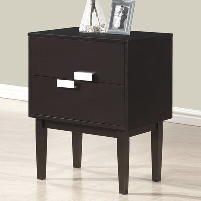 Baxton Studio Redgrave 2 Drawer Nightstand