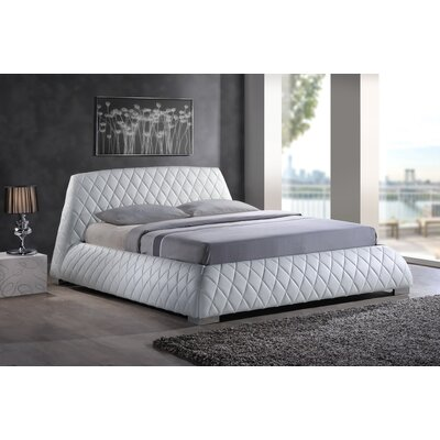 Utley Queen Upholstered Platform Bed Color: White
