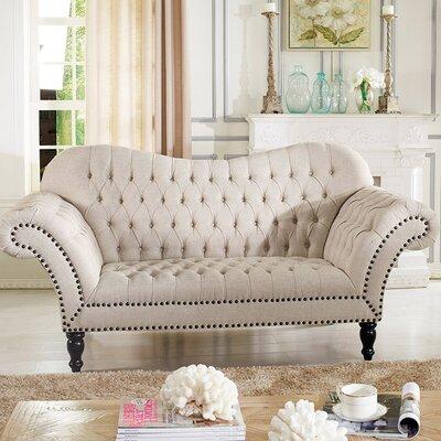 TSF-7202-SF-Beige WHI5438 Wholesale Interiors Baxton Studio Bostwick Classic Victorian Sofa