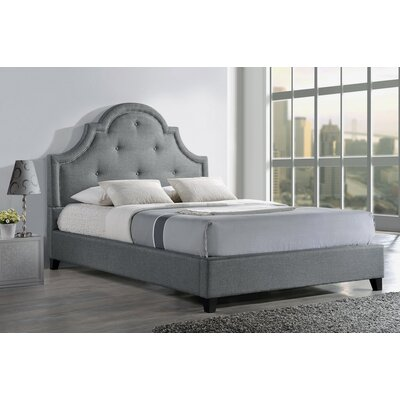 Baxton Studio Upholstered Platform Bed Upholstery: Grey, Size: Queen