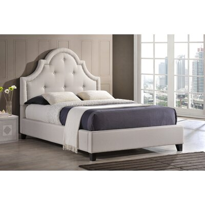 Baxton Studio Upholstered Platform Bed Size: Full, Upholstery: Light Beige