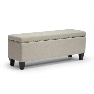 Baxton Studio Solippa Ottoman Upholstery: Beige