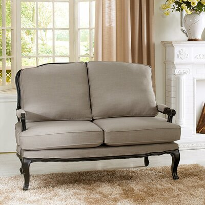 52348-LS-Beige WHI5431 Wholesale Interiors Baxton Studio Antoinette Classic French Loveseat