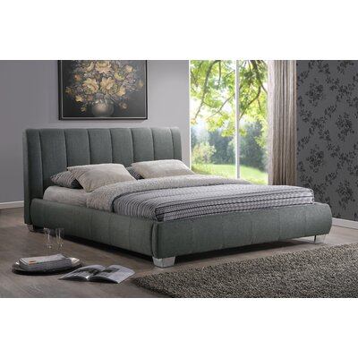 Baxton Studio Queen Upholstered Platform Bed Upholstery: Grey