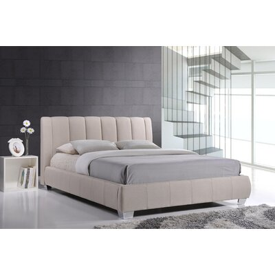 Baxton Studio Queen Upholstered Platform Bed Color: Light Beige