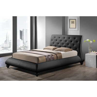 Utley Upholstered Platform Bed Size: Queen, Color: Black