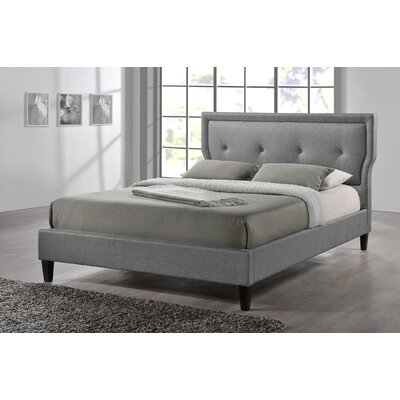 Marquesa Upholstered Platform Bed Size: Queen, Color: Grey