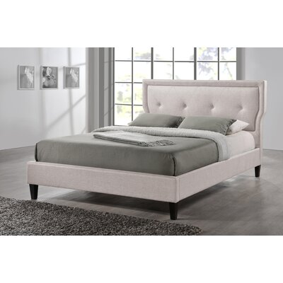 Marquesa Upholstered Platform Bed Size: Full, Color: Light Beige