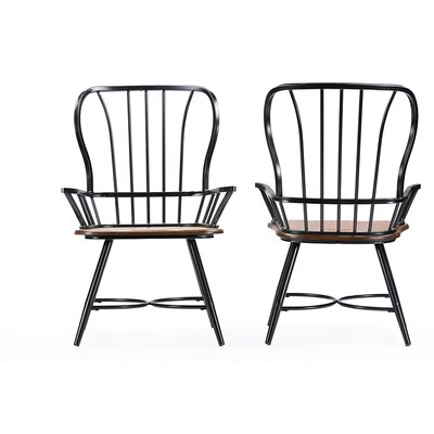 Longford Arm Chair Finish: Black