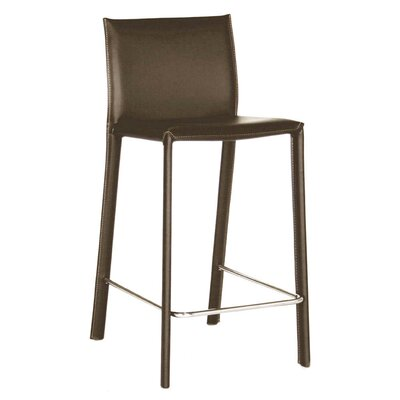 Crawford 29 Bar Stool Upholstery: Brown